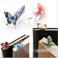 Wholesale bookmarks stationery butterfly paper bookmark stationery reading note hot sell