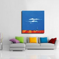 acrylic paintings abstract - Acrylic simple corlor landscape abstract paintings modern room decoration wall art picture handmade on canvas
