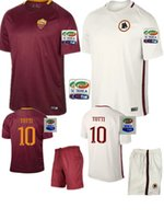 Wholesale new Rome2016 top quality Rome Home and Away Jersey kit patch PJANIC DZEKO TOTTI DE ROSSI home away Associazione Sportiva Roma