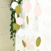 Wholesale Newest Glitter Paper Garland Round Circle Bunting Wedding Decoration Brithday Decor Nursery Bridal Shower garland banners