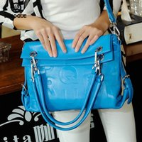 Wholesale 2015 Top Shoulder Bags Travel Handbag Winter New Hit Color Korean Letter Bag Leather Handbag Shoulder Dual purpose