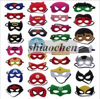 Wholesale 135 Styles Kids Superhero Mask Hallowee Cosplay Masks Party Costumes Eye Masks Superman Batman Spiderman Flash TMNT Star Wars Mask B292
