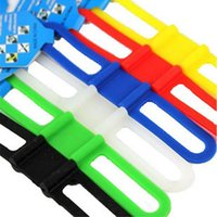 Wholesale Bicycle Bike Strap Silicone Elastic Strap Bandage Mount Holder Fasten Bind Silicone Strap Fast Shipping
