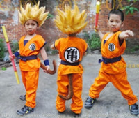 Wholesale Superior quality Kids Dragon Ball Z Son Goku Cosplay Costume Halloeen Clothing set