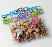Wholesale 20pcs littest pet shop LPS Minifigures action figure toys patrulla canina toys kids christmas gift