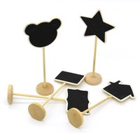 Cheap South Korea reminder message of small blackboard blackboard with bamboo price sitting at the end of the card 15g board seats