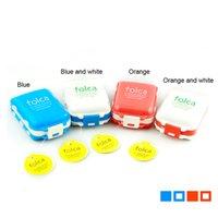 Wholesale Folding Vitamin Medicine Pill Box Case Makeup Storage Case Container Portable PP Case