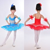 ballerina costumes - Girls Gymnastic Leotard Ballet Dancing Dress White Swan Lake Costume Ballerina Dress Kids Ballet Dress Children Ballet Tutu