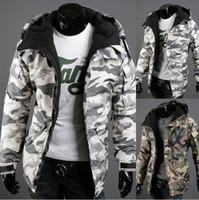 Wholesale 2016 New Arrival Fashion Design Winter Jacket Men Cotton Campera Hombre Parkas Hooded Coat Camouflage Men Jacket