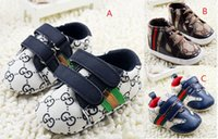 Wholesale 2016 Embroidered baby shoes casual toddler shoes anti slip kids sports shoes M soft newborn sports shoes pairs C