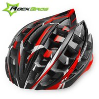 Wholesale RockBros Quality Bicycle Helmet Colors Outdoor Sports Cycling Helmet Holes MTB Mountain Road Bike Helmet Riding Accessories