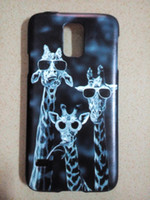 bicycle paint designs - black hard plastic Painting Giraffe Flower Bicycle Case for Samsung galaxy S5 i9600 Customized Design Phone Skin