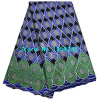 african lace manufacturers - new manufacturer stone embroidery dry lace african swiss voile lace beauty nigeria cotton lace fabric for women AQ19n37