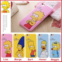 For Apple iPhone american apple - 2016 New Style American Style The Simpsons Patterns With quot Love quot Back Hole Soft TPU Case Cover For iPhone S Plus inch MOQ