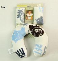 Wholesale Cute kids Cars seat Pillows Baby Neck protection pllow Kids travel U shape PP Soft short plush Maternity supplies patterns