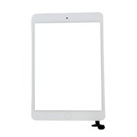 Cheap 1pcs lot for iPad mini Digitizer Touch Screen Glass lcd panel with IC Connector & Home Button Flex full set Complete + Tools