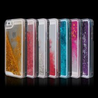 Wholesale New Transparent Dynamic Liquid Glitter Colorful Paillette Sand Quicksand Back Case Cover For iPhone S Promotion