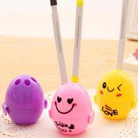 Wholesale 10pcs Cartoon Small Fresh Egg Pencil Sharpener Pencil Machine School Office Supplies Papelaria