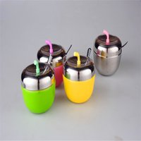 Wholesale 4Sets Creative stainless steel seasoning pot creative seasoning bottle condiment pot kitchen supplies storage set