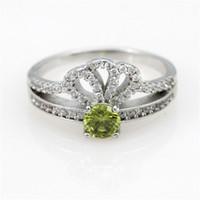 beautiful diamond rings sale - Yellow Wedding Crown Women Rings Accessories With Big Beautiful Stone Silver Hot Sale CZ Diamond Jewelry as Gift Ulove Y2735