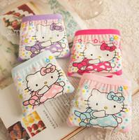 Wholesale Children panties girls underwear hello kity cute pink cotton soft children s underwear pieces years old