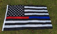 Wholesale Thin Blue Line Red Line Police Fire respect and honor law enforcement Flag ft Two buckle