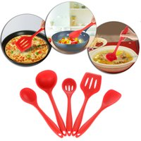 Wholesale High Quality Silicone Kitchenware Suit Kitchen Tools Set Spatulas Spoon Slotted Turner Ladle Cooking Utensils