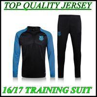 barcelona mix - Top Thai quality Barcelona black Jerseys tracksuit Football Shirt Training Suit Jacket mix order S M L XL