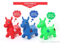 abs plastic toxic - music Inflatable jumping red deer cow Maccabees thick genuine non toxic plastic children s toys tuba birthday gift