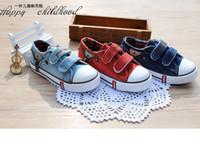 baby magic boy - 2016 New Size19 Children Shoes Kids Canvas Sneakers Boys Girls Jeans Flats Boots Denim Zipper Magic stick Shoes baby low shoes