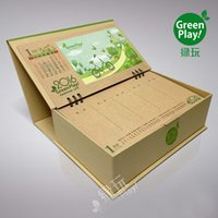 Wholesale Kraft paper desk organizer with green design printed office desk and drawer boxes make your desk on the office and room an impression