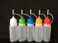 juice dispenser - 10ML E Liquid Vaporizer Juice Needle Tip Dispenser Needle Dropper Bottle PE Plastic Empty Bottle