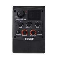 acoustic chorus - Cherub Band EQ Equalizer Guitar Preamp Piezo Pickup LCD Tuner with Reverb Chorus Effects for Acoustic Guitar