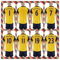arsenal prints - Uniforms Kit Soccer Jersey arsenal Ozil Wilshere Alexis Ramsey Walcott Holding Away Yellow Jerseys