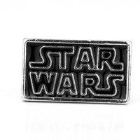 beatles pins - Freeshipping a Star Wars The Beatles Brooch Pin Black Enamel Badge Squareness Brooch