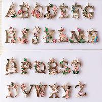 Wholesale 100pcs alphabet beads Drip letters bracelet alloy pendant fashion DIY accessories beads