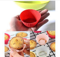 Wholesale 100pcs Multicolor Round Shape Silicone Cake Cup Muffin Cases Cake pudding mini Chocolate Cup cake Mold cup Cake baking Mould Bakeware