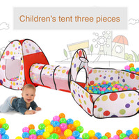 Wholesale toy tents Children s ocean ball game room toy tent Children s tent three sets of shooting ball pool crawling Tunnel Tent