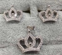 Wholesale Crown Earring and Necklace Sterling Silver