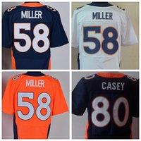army uniforms - Cheap Sale Von Miller Jersey Team Color Blue White Orange Alternate James Casey Sport Uniforms Fashion All Stitching