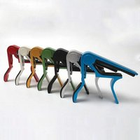 Wholesale 7 Brand New Single handed Guitar Ukulele Capo Quick Change Colors to Choose From FG15378
