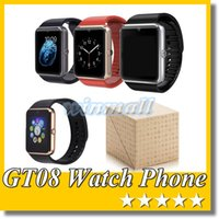 Cheap A+++ Quality GT08 Bluetooth Smart Watch Phone Smartwatch with Camera SIM Slot For SAMSUNG LG Xiaomi Android Smartphone DZ09 U8