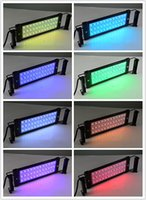 Wholesale 72cm extended to cm W RGB LED Aquarium Light for Fish Reef Tank V Plug and Play With Power Supply