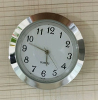 Wholesale 37mm cheap and gold quality clock silver metal fit up clock insert clock arbic numerals mini insert clock