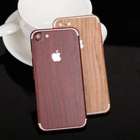 Wholesale For iPhone s Plus s SE Luxury Wood Skin Phone Sticker Full Body Decal Wrap Protective wooden Cover Case opp bag
