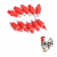 al por mayor bebedores de pollos-las aves de corral proveedor de agua de alimentación Waterer 10Pcs / Set Pezón Bebedor del alimentador del agua tazas de pollo bebedores