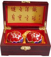 Wholesale 50mm Multifunctional fitness ball Shouxing Brand Originating in Baoding China Cloisonne Peony pattern and retail