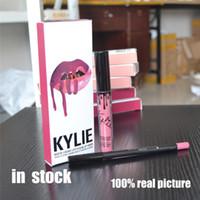 Wholesale Kylie Lip Gloss Ginger Kristen Maliboo Lipstick Kylie Jenner Lip liner Lip Kit lipgloss liquid lipstick matte kylie lip kit lip gloss