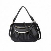 Precio de Las mujeres baratas bolsas de cuero negro-Cuero genuino de las mujeres del remiendo bolsas de mensajero bolsas de hombro de lujo bolsos MAMA Bolsas Crossbody LI-616 bolso negro barato