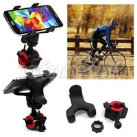 bicycle map holder - 360 Degree Rotatable Bike Cell Phone Support Bicycle Mount Bracket Cradle Holder Dual Clip For Iphone Maps GPS Navigation